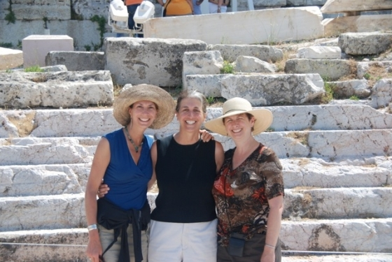 With my Sisters, at the Base of the Acropolis!