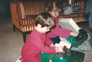 Michelene and John opening their presents!