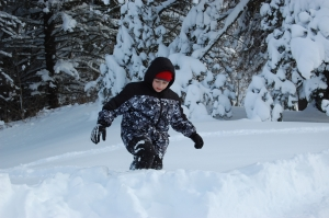 Gavin in the big snow a few years ago!
