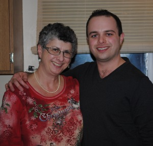 My son John and I, Christmas Day